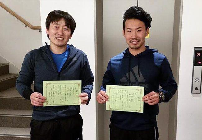 男子ダブルス優勝「村田・中川組」